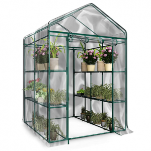 Home-Complete Walk-in Greenhouse-Indoor Outdoor with 8 Shelves, Green @ Amazon