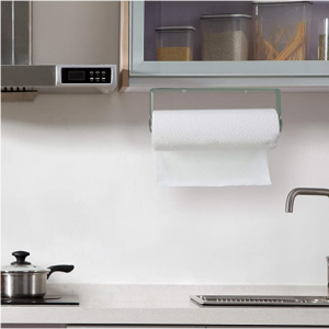 SMARTAKE Paper Towel Holder with Adhesive Under Cabinet, Wall Mounted & No Drilling @ Amazon