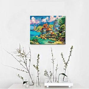 iCoostor 数字油画套装 港口小屋 @ Amazon