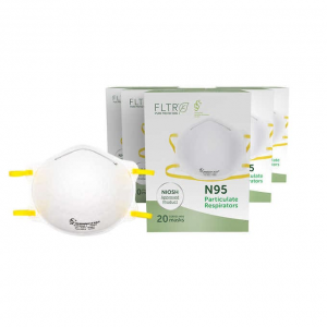 NIOSH N95可調節耳掛式口罩,100個,立減$90