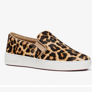 45% off Michael Kors Keaton Leopard Calf Hair Slip-On Sneaker @ Michael Kors