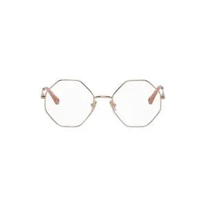 CHLOE Rose Gold Octagonal Glasses Sale @ SSENSE