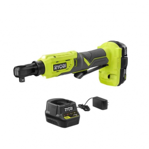RYOBI ONE+ 18V Cordless 3/8 in. 4-Postion Ratchet Kit with (1) 1.5 Ah Battery and Charger