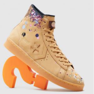 Size.co.uk官網 Converse x Bandulu Pro 刺繡潑墨籃球帆布鞋熱賣