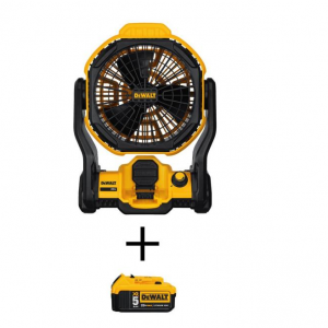 DEWALT 20-Volt MAX Lithium-Ion Cordless and Corded Jobsite Fan (Tool-Only) @ Home Depot