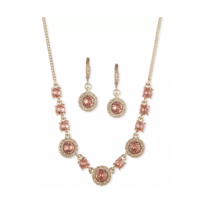Macy's梅西百货 Givenchy水晶项链&耳环套装3.5折热卖