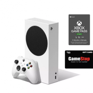 Xbox Series S Game Pass Ultimate System Bundle with $50 GameStop Gift Card for $394.99 @GameStop