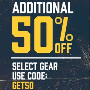 Additional 50% Off Team Gear Sale @ Eastbay