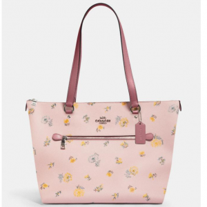60% Off Coach Gallery Tote With Dandelion Floral Print @ Coach Outlet