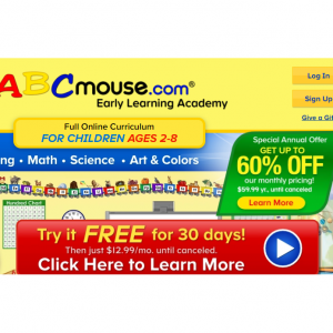 ABCmouse 1 Month Free Trial & 60% OFF Annual & 74% OFF 2 Month