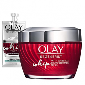 Olay Regenerist Whip Face Moisturizer with Sunscreen SPF 25 Gift Set @ Amazon