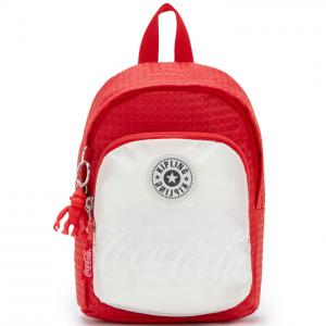Macy's官網 Kipling Coca-Cola Delia Compact 紅色拚接雙肩包3.1折熱賣