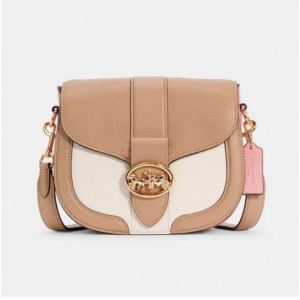 70% off Coach Georgie Saddle Bag In Colorblock @ Coach Outlet