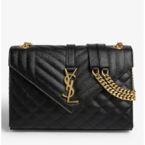 SAINT LAURENT Monogram quilted leather satchel bag $2035