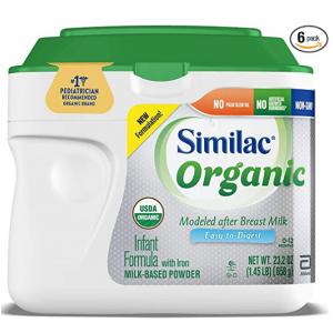 Similac Organic Infant Formula with Iron,1.45 lb (Pack of 6) @ Amazon