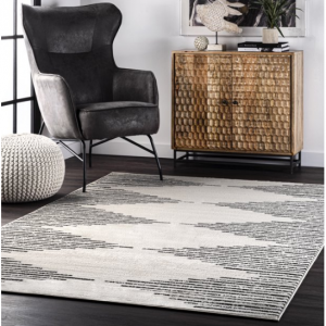nuLOOM Romina 簡約裝飾地毯 5x8英尺 @ Walmart