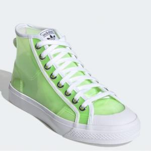 eBay US官網 楊冪同款 adidas Originals Nizza果凍透明女款高幫鞋熱賣 兩色可選