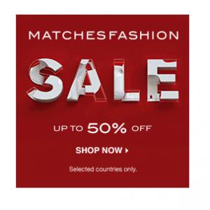Up To 50% Off Spring Sale( Proenza Schouler, Aquazzura, Nicholas Kirkwood & More) @ MATCHESFASHION