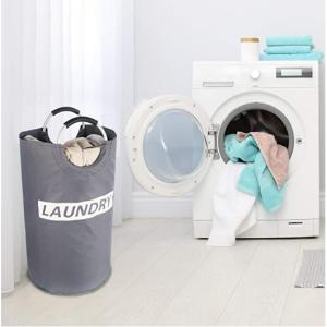 Lifewit 82L Large Laundry Basket Collapsible Clothes Hamper, Grey @ Amazon