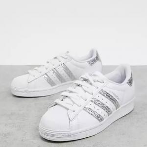 ASOS US官网 adidas Originals Superstars 爆闪银尾贝壳头板鞋热卖