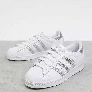 Extra 25% off adidas Originals Superstars Sneakers in Glitter @ ASOS US