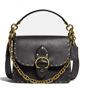 40% Off COACH Beat Leather Shoulder Bag With Rivets @ Macy's