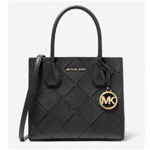 75% Off Michael Kors Mercer Medium Woven Leather Accordion Crossbody Bag @ Michael Kors