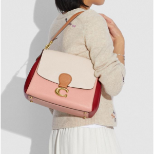 70% Off Coach May Shoulder Bag In Colorblock @ Coach Outlet