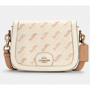 60% off Saddle Bag With Horse And Carriage Dot Print @ Coach Outlet