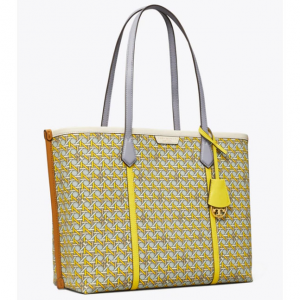 PERRY PRINTED CANVAS TRIPLE-COMPARTMENT TOTE BAG @ Tory Burch