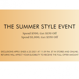 The Summer Style Event - $150 off $500+ & $350 off $1000+ @ Stuart Weitzman