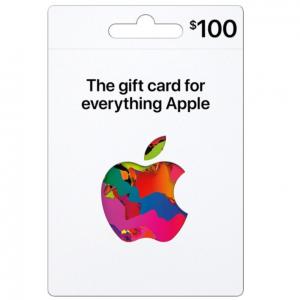 新版Apple 禮卡 $100麵值, 線下+線上+軟件商店 通用 @ Best Buy
