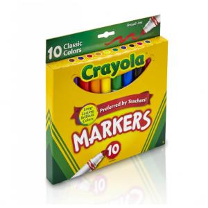 白菜價:Crayola 經典10色水彩馬克筆 @ Walmart