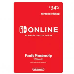 Target官网 Nintendo Switch 1年份家庭版会员 享受线上联网服务