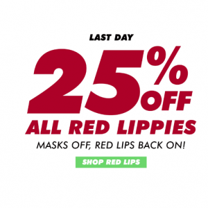 Last Day - 25% Off All Red Lips @ Lime Crime