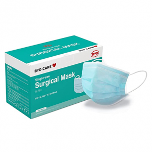 BYD CARE Single Use Disposable 3-Ply Procedural Mask @ Amazon
