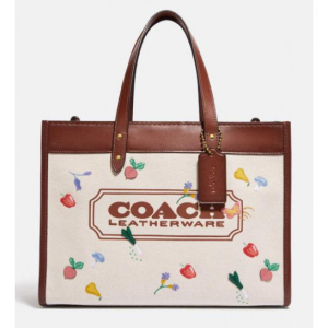 30% off Field Tote 30 With Garden Embroidery Coach Badge @ Coach
