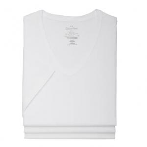 Men's Wearhouse官網 Calvin Klein男款V領純棉T恤2.5折熱賣(3件裝)