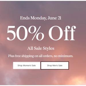 50% Off All Sale Styles @ prAna