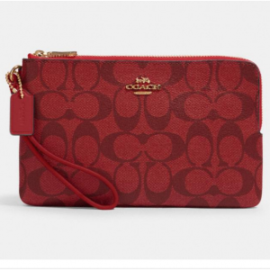 75% Off Double Zip Wallet In Signature Canvas @ Coach Outlet