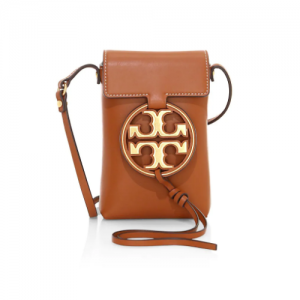30% Off Tory Burch Miller Metal Leather Crossbody Phone Case @ Saks Fifth Avenue