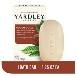 Yardley London Pure Cocoa Butter & Vitamin E Bar Soap, 4.25 Ounces /120 G (Pack of 1) @ Amazon