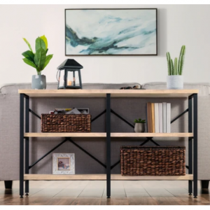 Best Choice Products 3-Tier Industrial Hallway Console Table for Living Room