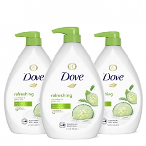 Prime Day: Dove Refreshing Cucumber and Green Tea Body Wash 34 oz 3 Count @ Amazon
