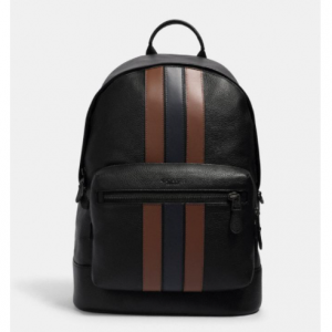 Coach West Backpack With Varsity Stripe Sale @ Coach Outlet