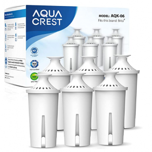AQUA CREST NSF, TÜV SÜD Certified Pitcher Water Filter, Replacement (Pack of 6) @ Amazon