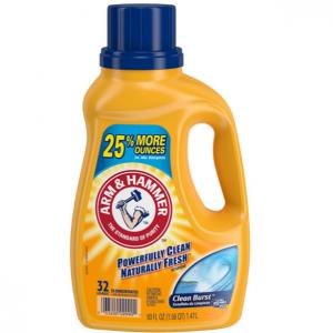 Arm & Hammer Clean Burst Liquid Laundry Detergent, 32 Loads @ Amazon