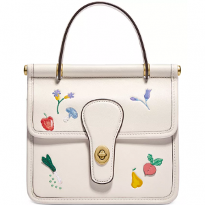 40% Off COACH The Coach Originals Willis Garden Embroidered Leather Satchel @ Macy's