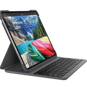 "Amazon - Logitech SLIM FOLIO PRO iPad Pro 12.9"" 键盘保护套,3.9折"