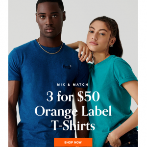 Mix & Match - Orange Label T-Shirts Sale @ Superdry